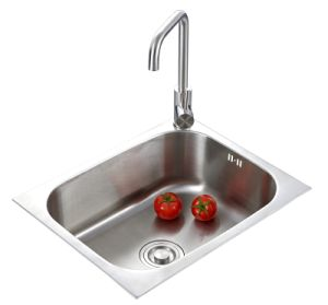 Stainless Steel Single Bowl Kitchen Sink (5545) pictures & photos