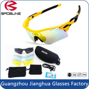Youth Style Anti Strong Glare Polarized Cycling Sport Sunglasses 5 Lens Interchangeable Lens pictures & photos