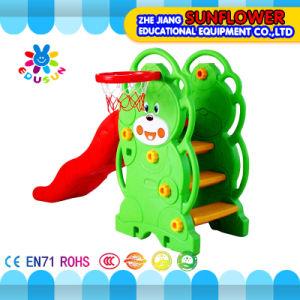 Indoor Playground Bear Shape Children Toys Kindergarten Soft Plastic Slide Playground (XYH12065-3) pictures & photos