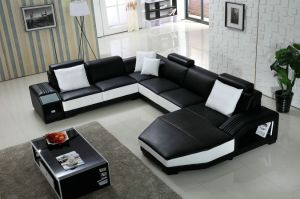 U Shape Italy Living Room Leather Sofa pictures & photos