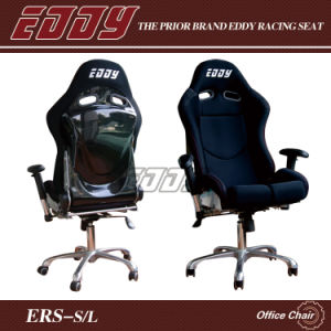 Eddy Different Newest Sport Seat Office Chair in Black with Fiberglass Back