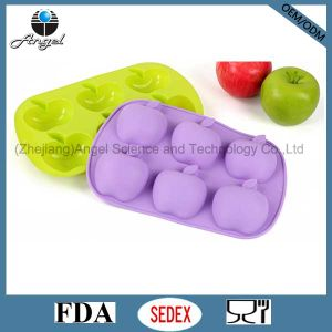 6-Cavity Apple Silicone Bakeware Cake Mold Soap Mold Sc20