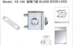 Yz-140 Stainless Steel, Stainless Iron Glass Door Lock pictures & photos