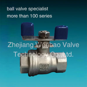 Stainless Steel 2PC Ball Valve with Butterfly Lever pictures & photos