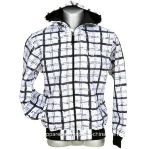 Men′s Check Printed Fleece Jackets/Hoodies pictures & photos