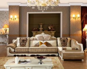 French Fabric Wooden French Furniture Sofa / Living Room Furniture Made in China / Turkish Sofa Set Furniture pictures & photos