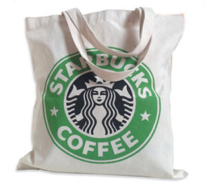 Starbucks Canvas Single Shoulder Handbag Tote Shopping Bag