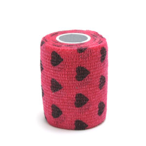 Hearted Printed Cohesive Coban Flexible Bandage pictures & photos