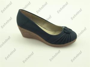 2015 Popular Ladies Shoes High Wedge Heel Ladies Shoes