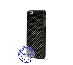 High Quality China Wholesaler 100% Real Carbon Fiber Rubberized PC Cover Case for iPhone 6 6s pictures & photos