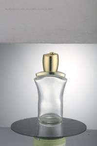 Through Frosted Glass Cosmetic Bottle Use for Cosmetic Shop Qf-089 pictures & photos