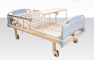 Semi-Fowler Manual Medical Bed with Rolling Dinner Table (A-13) pictures & photos
