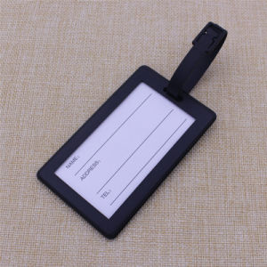 Factory Supply Cheapest Custom Soft PVC Rubber Luggage Tag pictures & photos