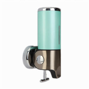 Green 500ml Stainless Steel+ABS Plastic Wall-Mountained Liquid Soap Dispenser