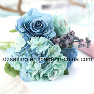 Artificial Bouquet Flower of Rose, Hydrangea and Berry for Home-Decor (SF14526) pictures & photos