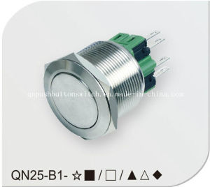 25mm Metal Logo Tact Switch on-off Switch pictures & photos