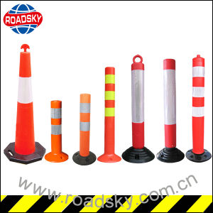 High Brightness Heavy Duty Flexible Round Plastic Road Bollards pictures & photos