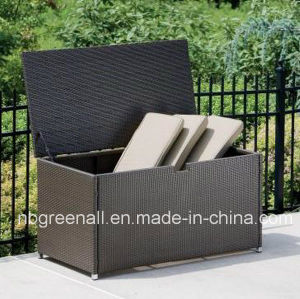 Waterproof UV-Resistant PE Wicker Cushion Storage Box pictures & photos