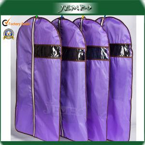 Cheap Purple PE Plastic Zipper Suit Garment Bag pictures & photos