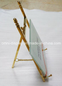 brass display sign holder table frame