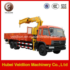 Dongfeng Hydraulic Telescopic Boom 10 Ton Truck with Crane pictures & photos