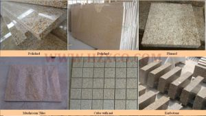 G682 Rusty Yellow Granite Tiles Project Stone pictures & photos