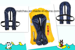 Factory Offered Automatic Single Air Chamber Inflatable Life Jacket pictures & photos