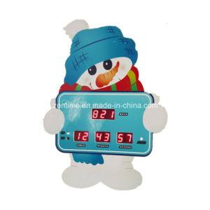 Electronic Snowman LED Digital Christmas Countdown Alarm Desk Clock (JDL-507C-1) pictures & photos