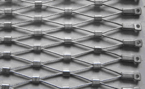 Tec-Sieve Stainless Steel Wire Rope Diamond Ferruled Mesh pictures & photos