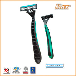 Triple Stainless Steel Blade Disposable Razor for Man (LV-3265) pictures & photos