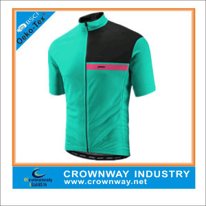 100% Polyester Bloc Short Sleeve Cycling Jerseys Gear with Pockets pictures & photos