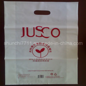 Plastic PE Punching Printing Shopping Bag pictures & photos