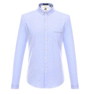 Custom Printed CVC Long Sleeve Work Guayabera Shirt
