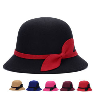 Fashion Ladies Winter Warm Cotton Knitted Bucket Hat (YKY3243) pictures & photos