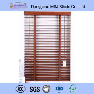 Basswood Blinds Window Covering Ready-Made Curtain Wooden Blinds pictures & photos