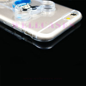 Factory Price Liquid Oil Mobile Phone Case with Ring Holder pictures & photos