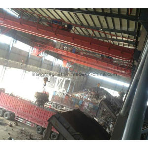 Industrial Electric Crane Magnet for Lifting Scraps pictures & photos