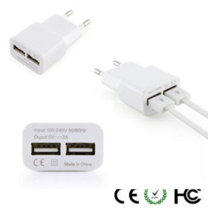 EU Us Dual USB 2A Wall Charger for Samsung pictures & photos