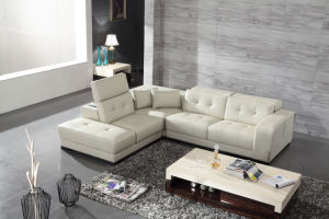 Modern Simple Living Room Leather Sofa with Corner (HC7342) pictures & photos