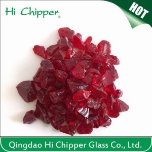 Crushed Dark Red Glass Chips pictures & photos