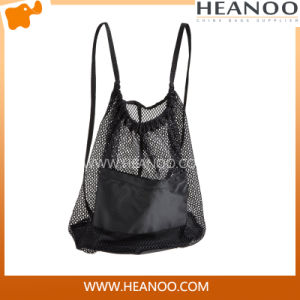 Cheap Promotion Hiking Shopping Climbing Beach Drawstring Mesh Bag Backpack pictures & photos