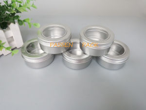 80g Aluminum Jar with Pet Window Screw Lid (PPC-ATC-80) pictures & photos