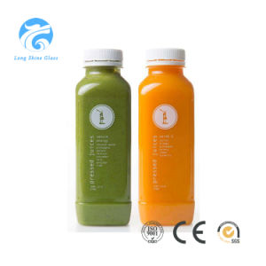 Glass Bottle Juice Beverage Glass Bottle with Plastic Cap pictures & photos