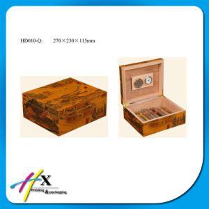Simple Solid Wood Cigar Box pictures & photos