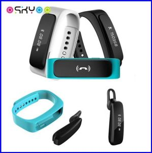 2 in 1 Dual Chip Bluetooth Earphone Smart Bracelet Calorie Pedometer pictures & photos