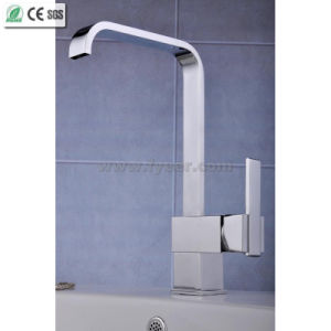 Fashion Design Oblate Spout Kitchen Sink Water Mixer Faucet (QH0718) pictures & photos