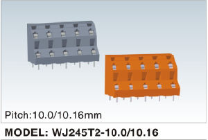 Wanjie PCB Screwless Terminal Block with Dual Row Pin Headers (WJ245T2-5.0/5.08) pictures & photos