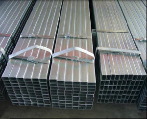 60X40mm Hollow Section Galvanized Square Steel Pipe for Cunstruction Structure pictures & photos