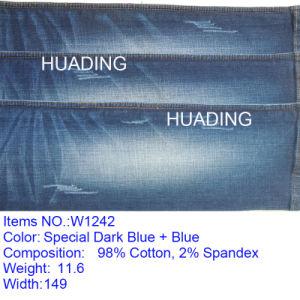 Super Soft Custom Jeanscotton Denim Fabric (W1242) pictures & photos