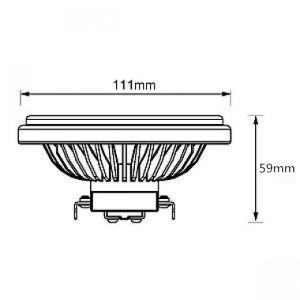 G53/Es111/AR111/PAR36 LED Grille Lamp 15W 12VAC/DC 15/30/45 Dergee pictures & photos